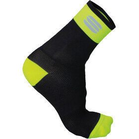 Sportful Bodyfit Pro 12 Socks Men Black/Yellow Fluo